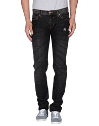 Dandg Denim Denim Trousers Men Black