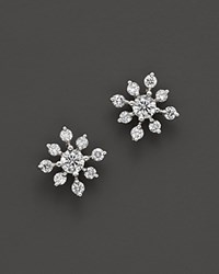 Bloomingdale's Diamond Snowflake Earrings In 14K White Gold 0.40 Ct. T.W. 100 Exclusive White Gold White Diamonds