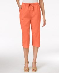 Karen Scott Drawstring Capri Pants Only At Macy's Fusion Coral