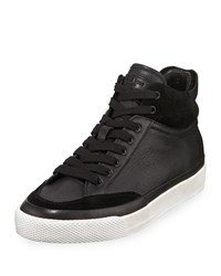 Rag And Bone Army High Top Platform Sneakers Black