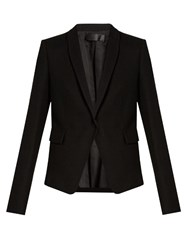 Haider Ackermann Proud Shawl Lapel Wool Blazer Black