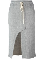 Lost And Found Rooms Front Slit Pencil Skirt Grey