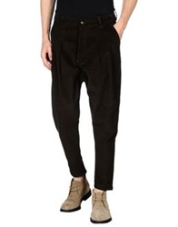 Minimal Casual Pants Dark Green