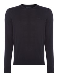 Armani Jeans Men's Crew Neck Cotton Jumper Navy