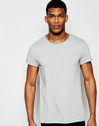 Junk De Luxe Raw Edge Organic T Shirt Grey
