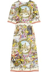 Dolce And Gabbana Printed Jacquard Dress Green