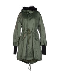 We Are Replay Coats And Jackets Coats Women Military Green