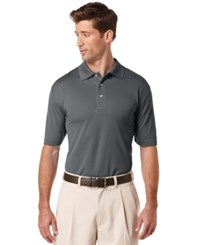 Pga Tour Men's Big And Tall Airflux Solid Golf Polo Asphalt