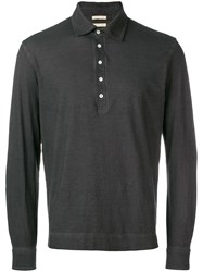 Massimo Alba Long Sleeve Polo Shirt Brown