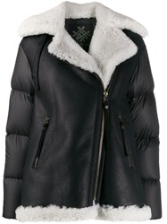 Mr And Mrs Italy Padded Panel Shearling Jacket 60