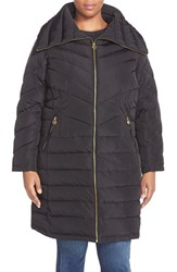 Plus Size Women's Michael Michael Kors Packable Down And Feather Fill Coat Black