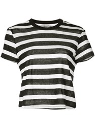 Rta Striped T Shirt Black
