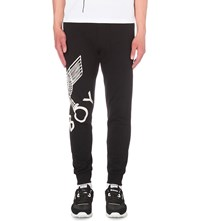 Boy London Eagle Print Cotton Jersey Jogging Bottoms Black