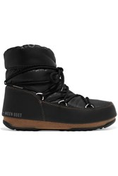 Moon Boot Shell And Faux Leather Snow Boots Black