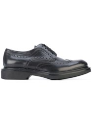 Salvatore Ferragamo Classic Wingtip Brogues Men Leather Rubber 9.5 Black