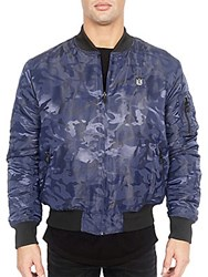 Cult Of Individuality Reversible Bomber Jacket Navy Camo