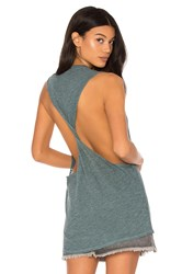 Lanston Twist Back Muscle Tank Slate