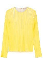 Emilio Pucci Pleated Crepe Top Yellow