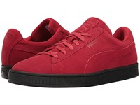 Puma Suede Black Sole Barbados Cherry Black Men's Shoes Red