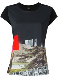 Paul Smith Ps By Diagonal Printed T Shirt Black