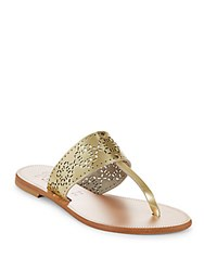 Joie Leather Thong Sandals Light Gold