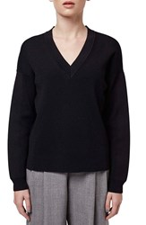 Women's Topshop Boutique Ribbed V Neck Sweater