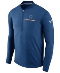 Nike Men's Indianapolis Colts Coaches Quarter Zip Pullover Blue
