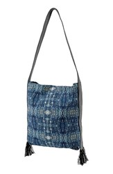 Junior Women's Volcom 'Dulce' Print Tote Blue Blue Mid