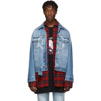 Vetements Blue Denim Anarchy Jacket