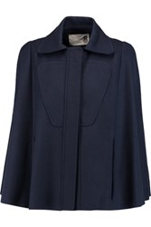8 Wool Blend Cape Midnight Blue