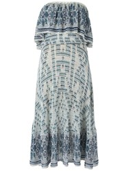 Cecilia Prado Knit Midi Dress Women Acrylic Lurex Viscose M Blue