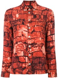 Jean Paul Gaultier Vintage Brick Print Shirt Multicolour