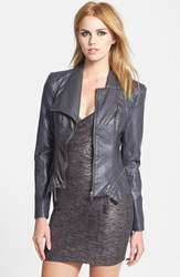 Blank Nyc Women's Blanknyc Faux Leather Jacket Revved Up Grey