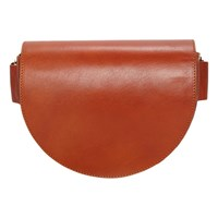 Liebeskind Berlin D Bag Leather Saddle Bag Italian Honey