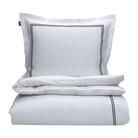Gant Sateen Stitch Duvet Cover Sateen Blue Blue Beige