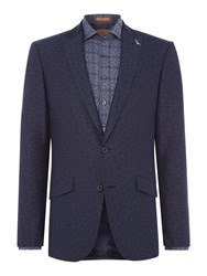 Simon Carter Men's Floral Jacquard Croker Jacket Navy
