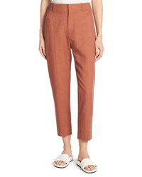 Vince Sateen Cropped Carrot Pants Purple