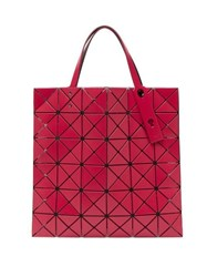 Issey Miyake Bao Bao Lucent Small Matte Pvc Tote Bag Red
