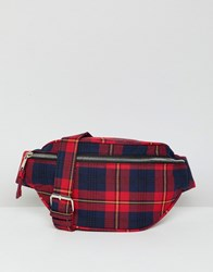 Stradivarius Tartan Check Belt Bag Multi