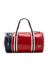 Fred Perry Classic Barrel Bag Red
