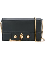 Anthony Vaccarello Gold Tone Detail Clutch Black