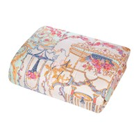 Etro Pertuis Mirabeau Quilted Bedcover With Double Edge 270X270cm Pink