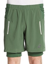 Asics Fujitrail Shorts Oak Green
