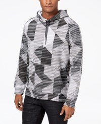 Kenneth Cole Reaction Men's Geo Print Hoodie White Combo