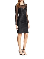 Milly Lou Lou Mesh Panel Dress Black