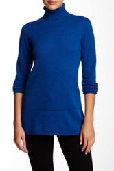 Cullen Cashmere Turtleneck Sweater Blue