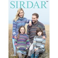 Sirdar Aura Chunky Jumpers Knitting Pattern 7881