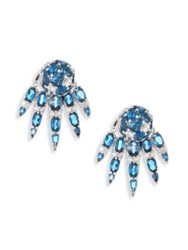 Nikos Koulis Spectrum Diamond And London Blue Topaz Stud And Ear Jacket Set