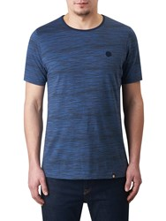 Pretty Green Rosebank Space Dye T Shirt Navy