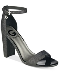 G By Guess Shantel Two Piece Sandals Women's Shoes Black Glam